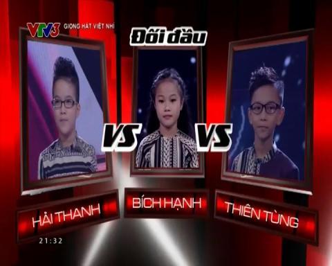 The Voice Kids 2015| Vòng Đối Đầu| Cõng Mẹ Đi Chơi - Hải Thanh & Bích Hạnh & Thiên Tùng