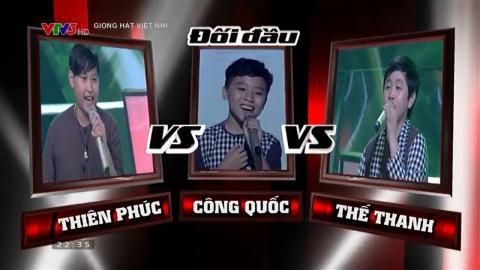 The Voice Kids 2015| Vòng Đối Đầu| Chú Hai Lúa - Thiên Phúc & Công Quốc & Thế Thanh
